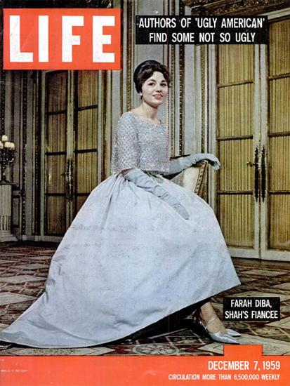 Farah Diba future Queen of Iran 7 Dec 1959 Copyright Life Magazine | Life Magazine Color Photo Covers 1937-1970