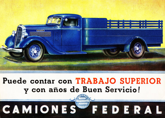 Federal Stake Truck 1935 Aniversario 25 | Vintage Cars 1891-1970