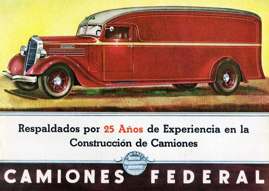 Federal Van 1935 Aniversario 25 | Vintage Cars 1891-1970