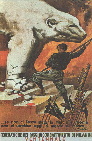 Federazione Dei Fasci Di Combattimento Di Milano | Vintage War Propaganda Posters 1891-1970