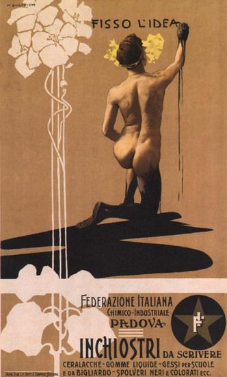 Federazione Italiana Padova Inchiostri Scrivere | Sex Appeal Vintage Ads and Covers 1891-1970