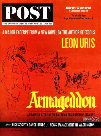 Feliks Topolski Saturday Evening Post Armageddon 1963_04_20 | The Saturday Evening Post Graphic Art Covers 1931-1969