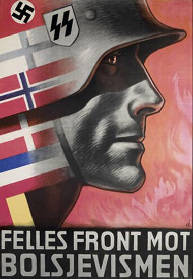 Felles Front Mot Bolsjevismen | Vintage War Propaganda Posters 1891-1970