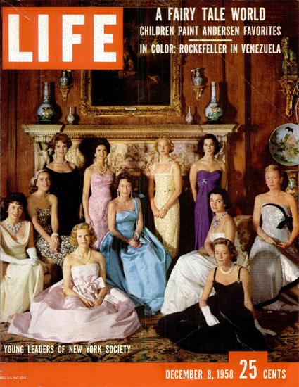 Female Leaders of New York Society 8 Dec 1958 Copyright Life Magazine | Life Magazine Color Photo Covers 1937-1970
