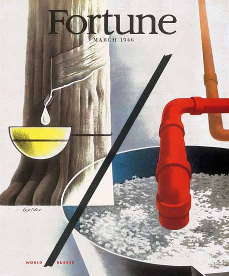 Ferran Texidor Fortune Magazine March 1946 Copyright | Fortune Magazine Graphic Art Covers 1930-1959