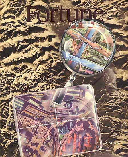 Festung Europa Fortune Magazine August 1943 Copyright | Fortune Magazine Graphic Art Covers 1930-1959