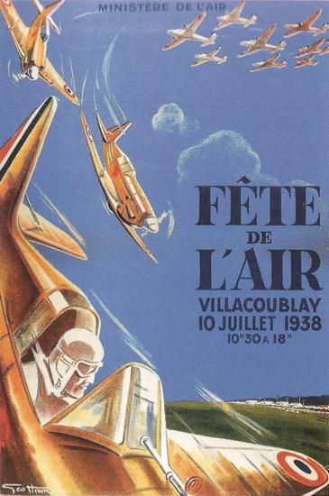 Fete De L Air Festival Villacoublay France 1938 | Vintage Ad and Cover Art 1891-1970