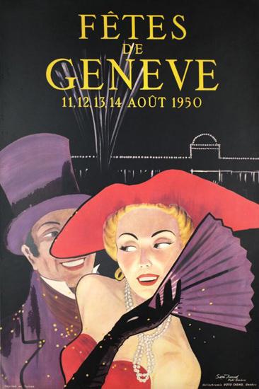 Fetes De Geneve Suisse Aout 1950 Geneva | Sex Appeal Vintage Ads and Covers 1891-1970