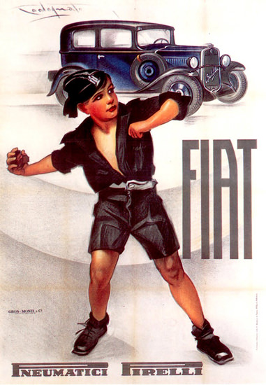 Fiat Automobiles Pirelli Tires 1932 | Vintage Cars 1891-1970