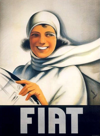 Fiat Girl 1928 Mario Gros | Sex Appeal Vintage Ads and Covers 1891-1970