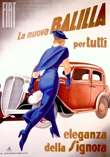 Fiat Nuova Balilla Per Eleganza Dalla Signora 1934 | Sex Appeal Vintage Ads and Covers 1891-1970