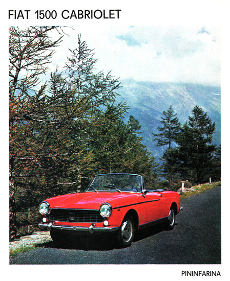 Fiat Pininfarina 1500 Cabriolet 1963 Mountain | Vintage Cars 1891-1970