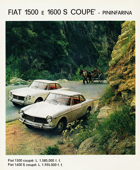 Fiat Pininfarina 1500 N 1600S Coupes 1962 | Vintage Cars 1891-1970