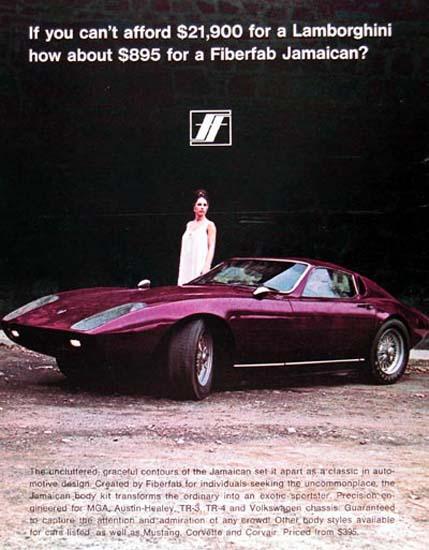 Fiberfab 1968 Fiberfab Jamaican Lamborghini | Vintage Cars 1891-1970