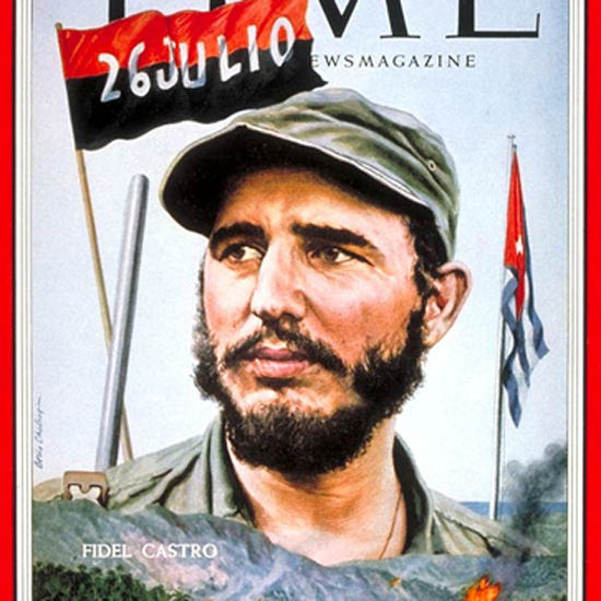 Fidel Castro Time Magazine 1959-01 by Boris Chaliapin crop | Best of Vintage Cover Art 1900-1970