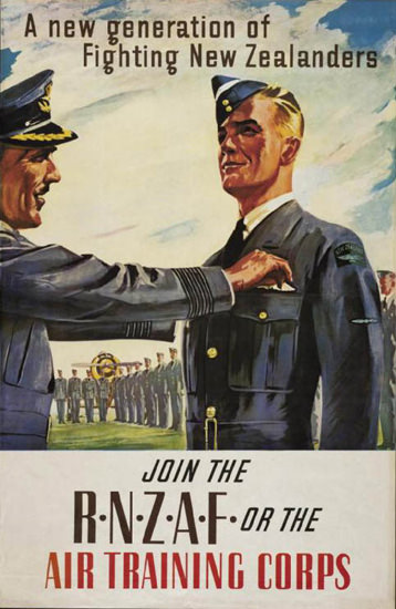 Fighting New Zealanders Join The RNZAF | Vintage War Propaganda Posters 1891-1970