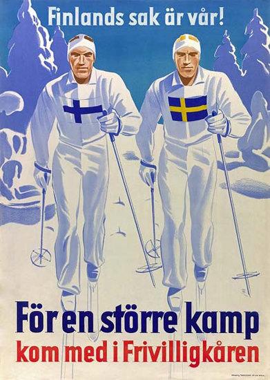 Finlands Sak Ar Var | Vintage War Propaganda Posters 1891-1970