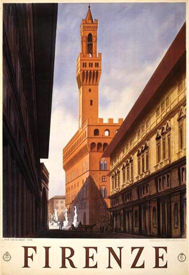 Firenze Italia Italy | Vintage Travel Posters 1891-1970