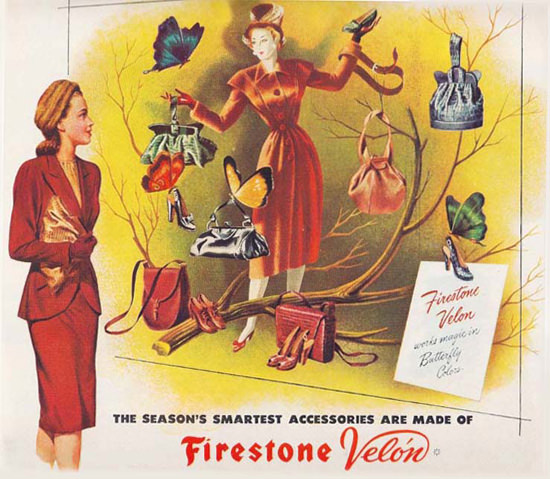 Firestone Velon Accessoires Butterfly Colors | Sex Appeal Vintage Ads and Covers 1891-1970