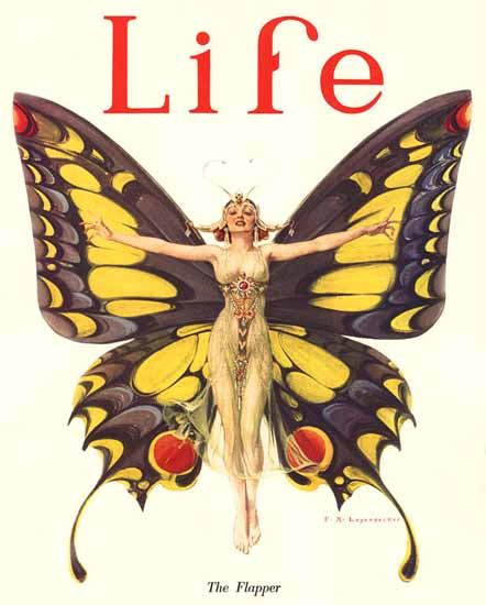 Flapper Frank X Leyendecker Life Magazine Flapper 1922-02-02 Copyright | Life Magazine Graphic Art Covers 1891-1936