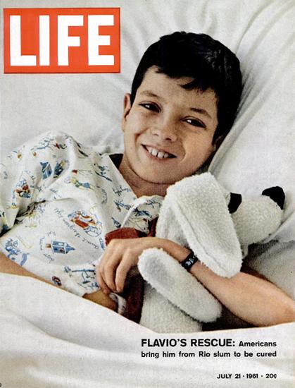 Flavios Rescue from Rio Slum 21 Jul 1961 Copyright Life Magazine | Life Magazine Color Photo Covers 1937-1970