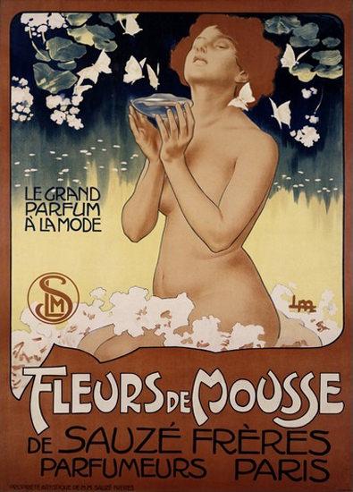 Fleur De Mousse Sauze Freres Parfumeurs Paris | Sex Appeal Vintage Ads and Covers 1891-1970