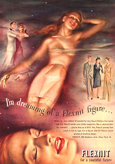 Flexnit Figure Lingerie New York | Sex Appeal Vintage Ads and Covers 1891-1970