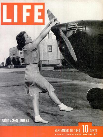 Flight across America 16 Sep 1940 Copyright Life Magazine | Life Magazine BW Photo Covers 1936-1970