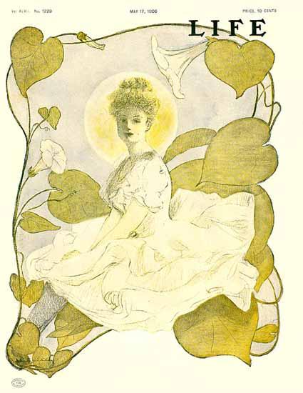 Flower Lady Life Humor Magazine 1906-05-17 Copyright | Life Magazine Graphic Art Covers 1891-1936
