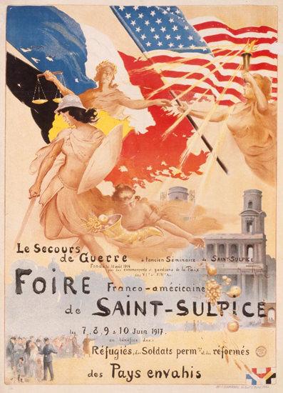 Foire Franco-Americaine De Saint Sulpice 1917 | Sex Appeal Vintage Ads and Covers 1891-1970