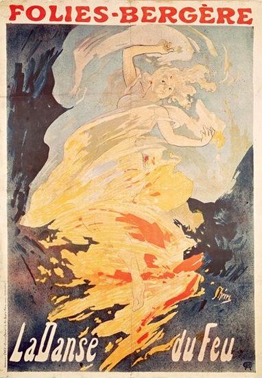 Folies Bergere La Danse Du Feu 1897 Paris | Sex Appeal Vintage Ads and Covers 1891-1970
