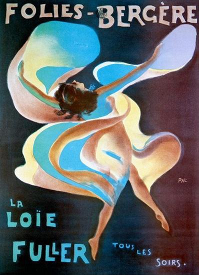 Folies Bergere La Loie Fuller Tous Les Soires | Sex Appeal Vintage Ads and Covers 1891-1970