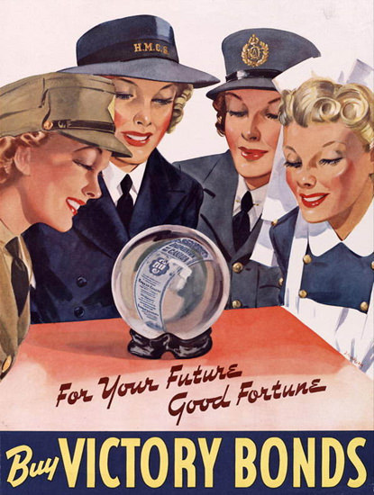 For Your Future Good Fortune Buy Victory Bonds | Vintage War Propaganda Posters 1891-1970