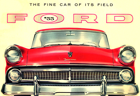 Ford 1955 The Finest Of Its Field Red | Vintage Cars 1891-1970