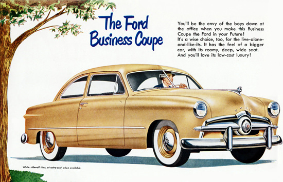 Ford Business Coupe 1949 Sidewall Tires | Vintage Cars 1891-1970