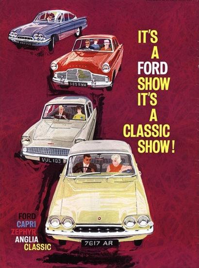 Ford Car Show Capri Zephyr Anglia Classic | Vintage Cars 1891-1970