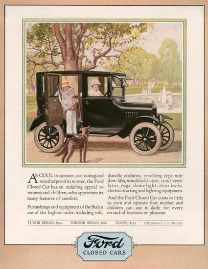 Ford Closed Cars Automobile | Vintage Cars 1891-1970