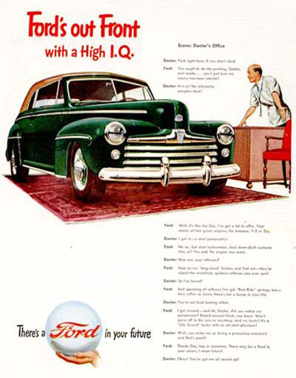 Ford Convertible 1947 High IQ Green | Vintage Cars 1891-1970