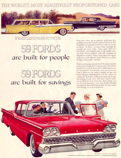 Ford Country Sedan Galaxy Club Victoria 1959 | Vintage Cars 1891-1970