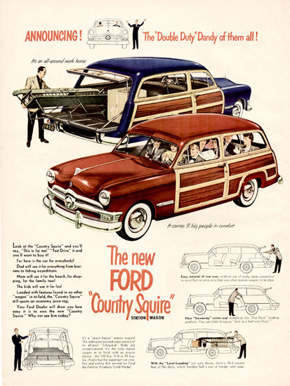 Ford Country Squire 1950 | Vintage Cars 1891-1970