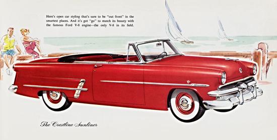 Ford Crestline V8 Sunliner 1953 Out Front | Vintage Cars 1891-1970