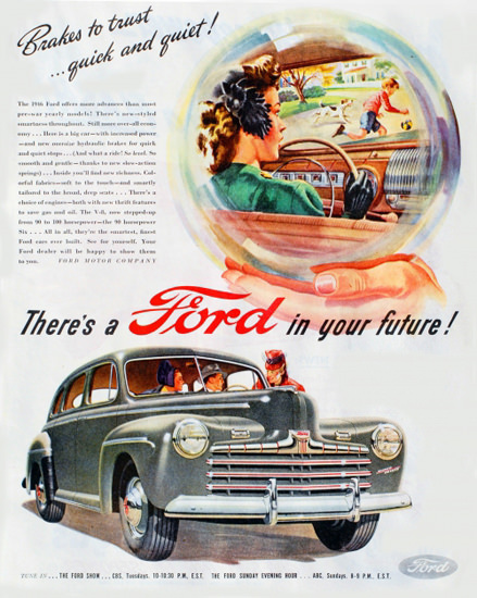 Ford Crystal Ball 1946 Brakes | Vintage Cars 1891-1970