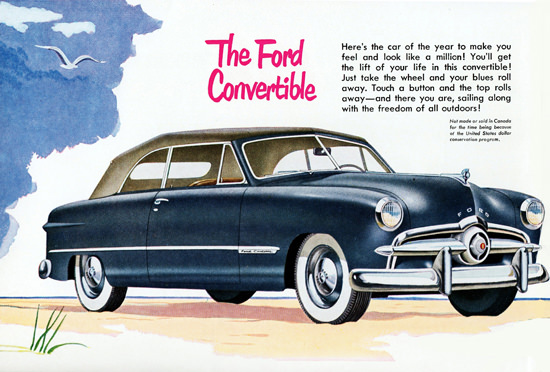 Ford Custom Convertible 1949 Top Roll Away | Vintage Cars 1891-1970