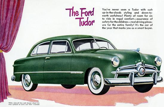 Ford Custom Tudor Sedan 1949 Sidewall Tires | Vintage Cars 1891-1970