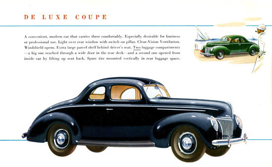 Ford De Luxe Coupe 1939 Two Luggage Comp | Vintage Cars 1891-1970