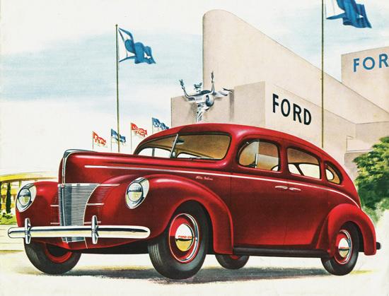 Ford DeLuxe Four Door Sedan 1940 | Vintage Cars 1891-1970