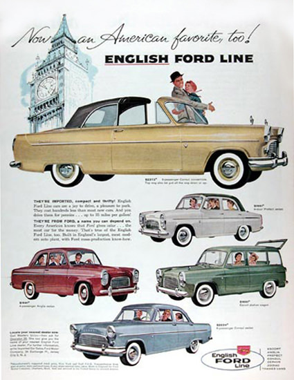Ford English Line 1959 American Favorite Too | Vintage Cars 1891-1970