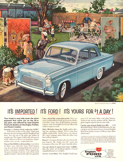 Ford English Line Blue | Vintage Cars 1891-1970
