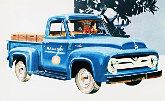 Ford F 100 Pickup 1955 Halliday Grapefruit | Vintage Cars 1891-1970