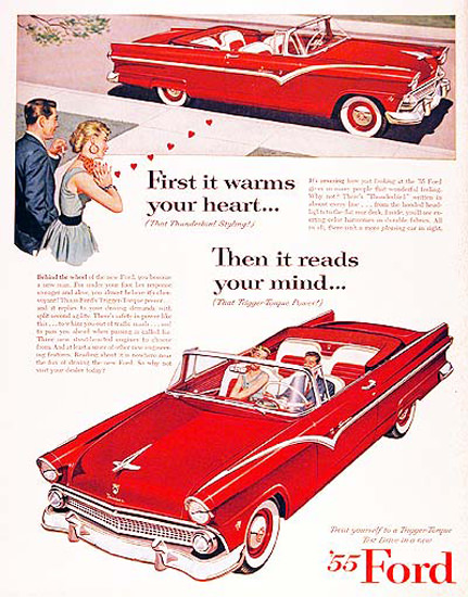 Ford Fairlaine Sunliner 1955 Reads Your Mind Red | Vintage Cars 1891-1970
